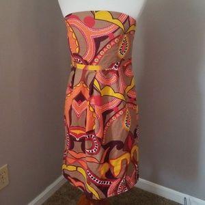Target's Merona strapless print dress in size 10